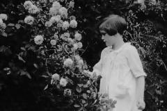 Mary in a garden